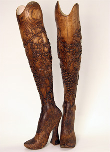 Beautifully carved artificial legs